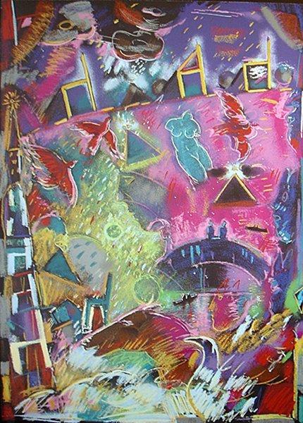 008A: Carlos Almaraz, Fools Paradise, 1986