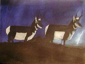 223A: David Bungay: Two Antelopes