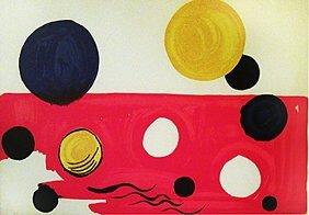 225: Alexander Calder: Untitled (black and ye