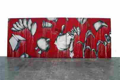 Barry McGee, Untitled (Graffiti Wall), 1991