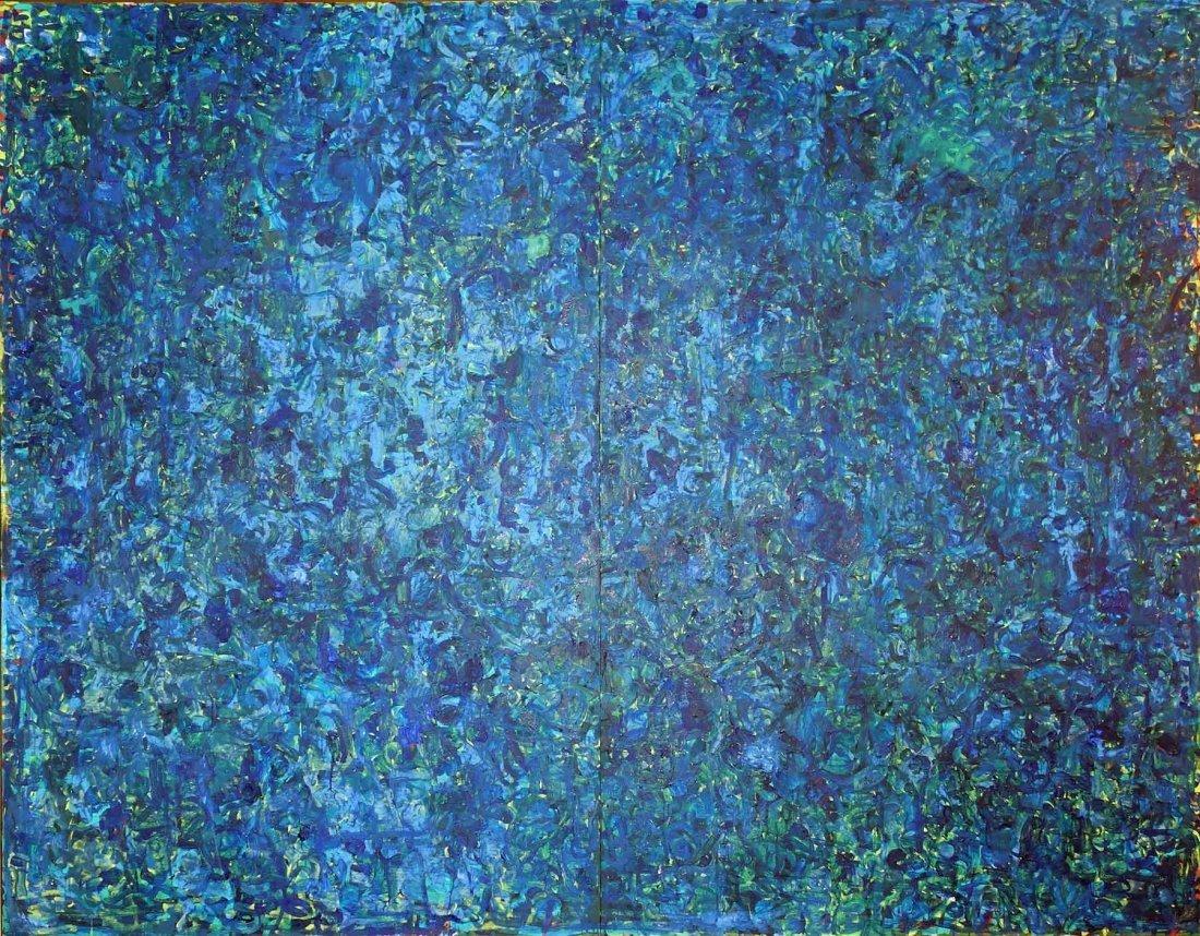 Roger Herman, Cobalt Painting #7 (Diptych), 1992