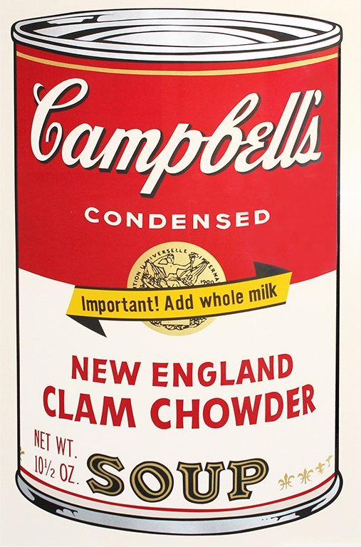 Andy Warhol  Campbell's Soup II (New England Clam