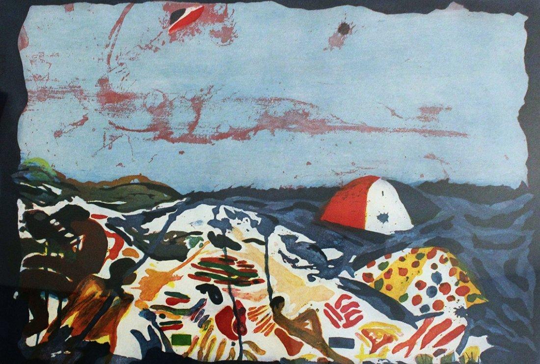 Malcolm Morley Beach Scene, 1986
