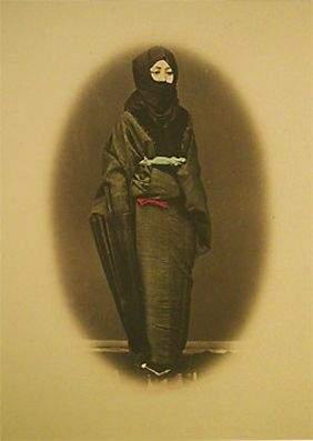 Felice Antonio Beato (Attrib.) Woman in Black Winter