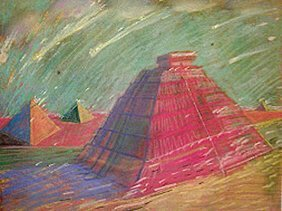209: Carlos Almaraz Untitled (pyramids)