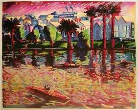 Carlos Almaraz Echo Park Lake