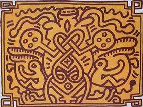 319: Keith Haring (A lot of 2) Chocolate Buddha; Chocol