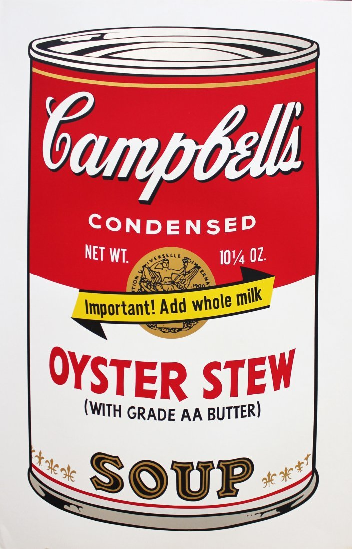 Andy Warhol   Campbells Soup II (Oyster Stew) ,