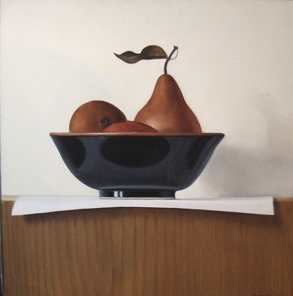 11A: James Aponovitch Still Life, Pears on a Black Bowl