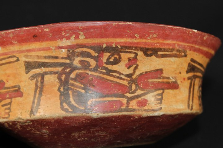 Beautiful Pre-Columbian Painted Bowl - 7