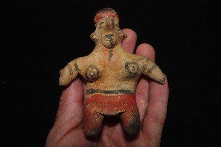 24: Seated PreColumbian  Pottery Figure