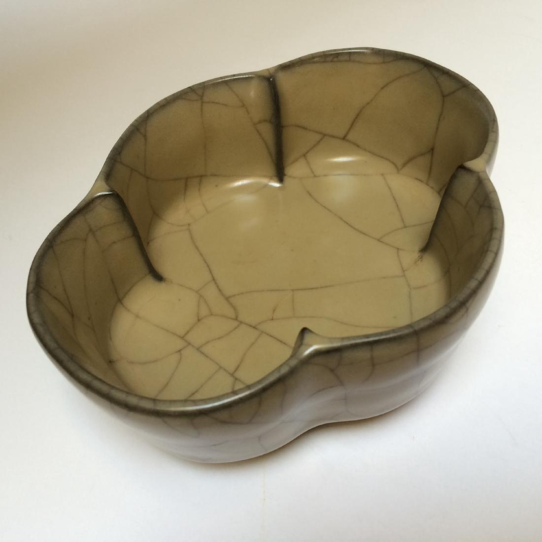 """Song Dynasty Guan Ware Bowl, Zi Ko Ti Zhu (6.75""""L)"""