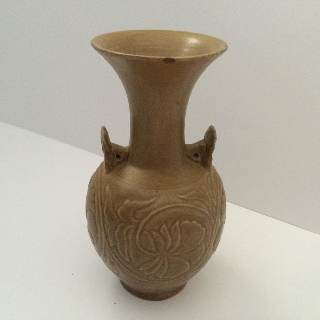 "Before Song Dynasty Yue Ware Vase, ""Repaired"" (8""H) - 2"
