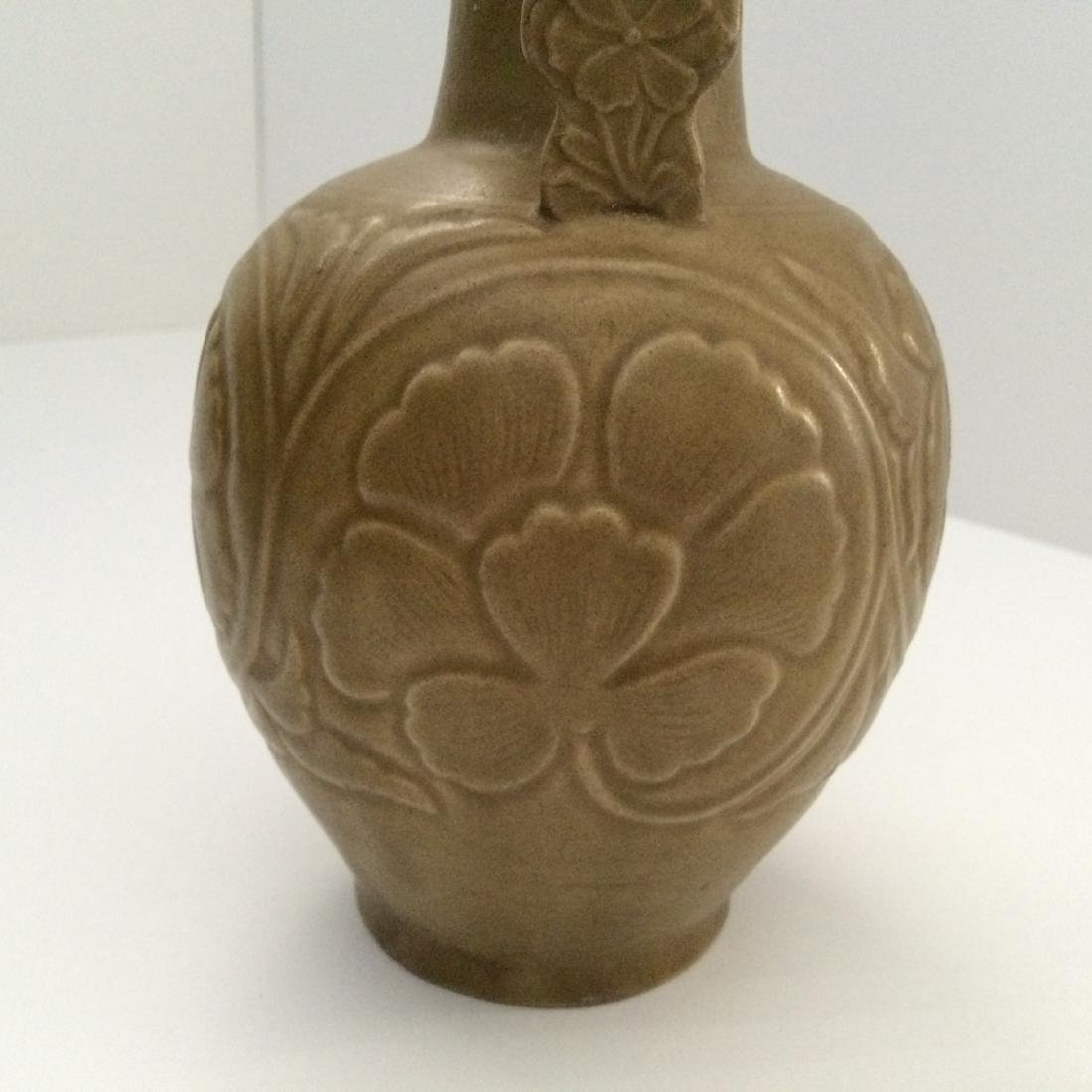 "Before Song Dynasty Yue Ware Vase, ""Repaired"" (8""H) - 5"