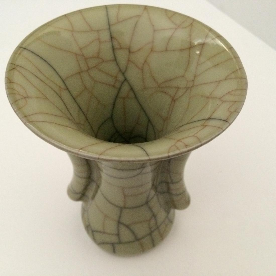 """Guan Ware Porcelain Crackle Glaze Vase (5.5""""H) - 2"""