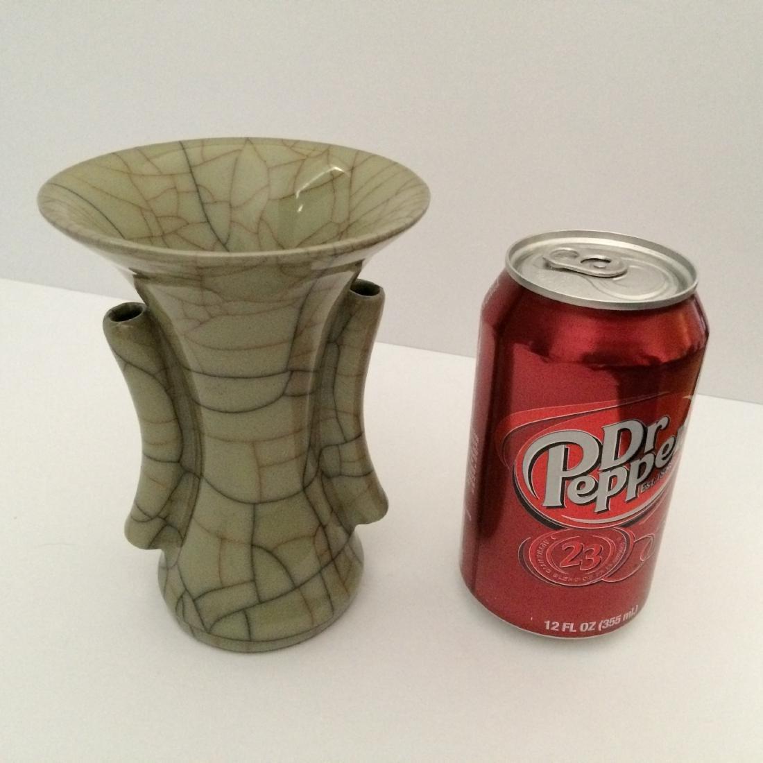 """Guan Ware Porcelain Crackle Glaze Vase (5.5""""H) - 4"""