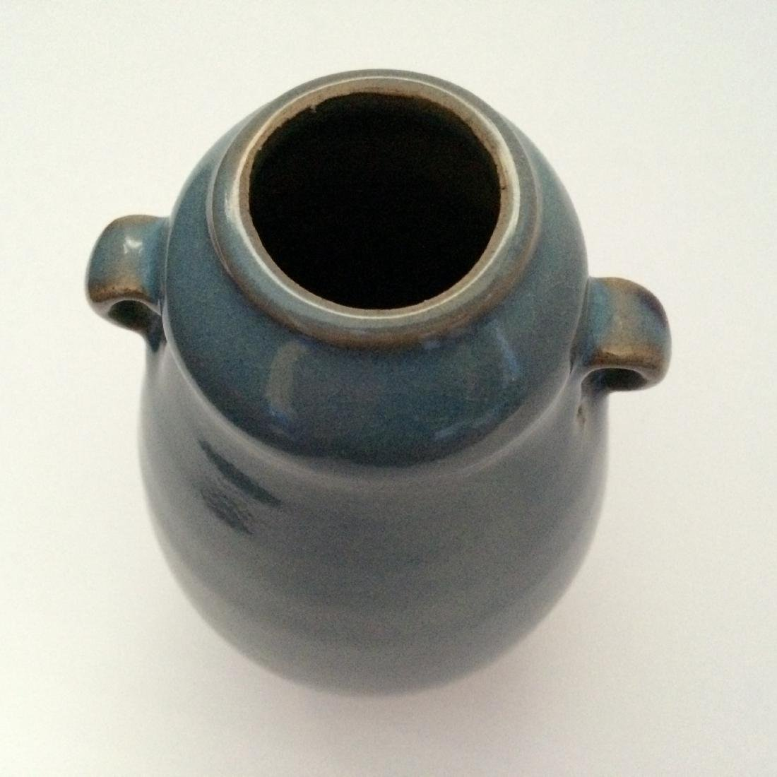 "Chinese Antique Porcelain Qun Ware Two Ear Vase (7""H) - 4"