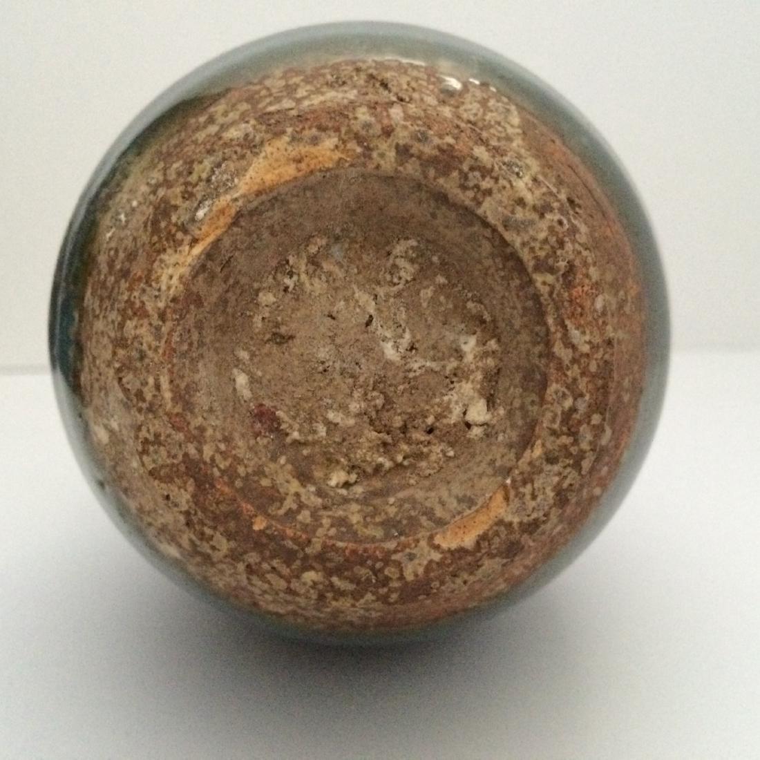 "Chinese Antique Porcelain Qun Ware Two Ear Vase (7""H) - 5"