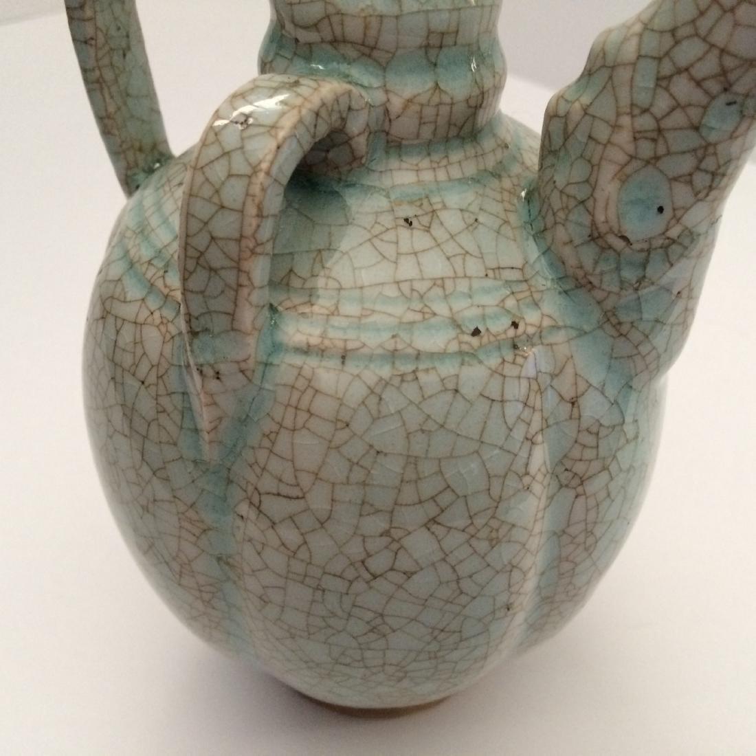 "Yuan Dynasty Porcelain Tea Pot, Phoenix Head (8.5""H) - 3"