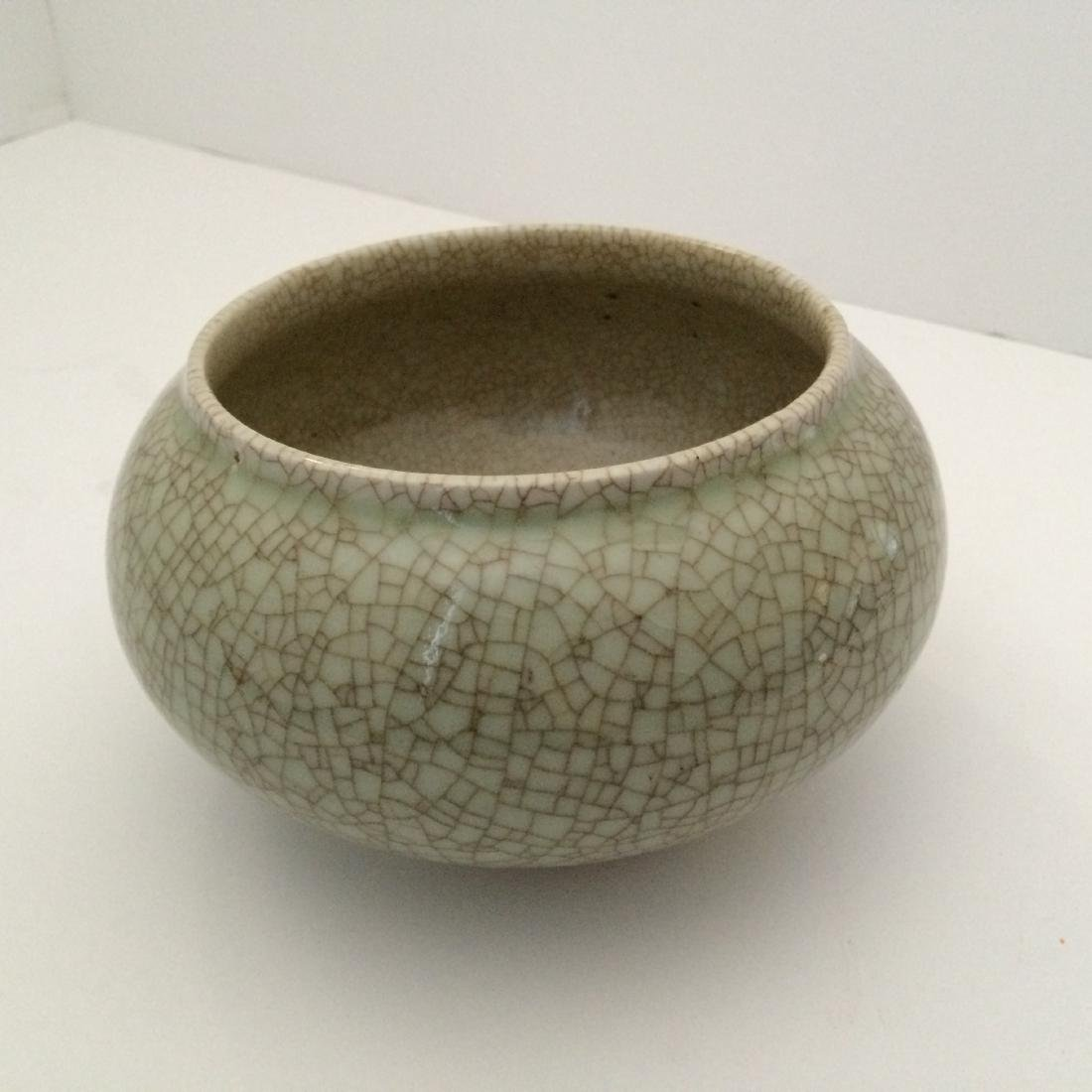 "Ming Dynasty Ge Ware Brush Washer (5.5""Dia)"