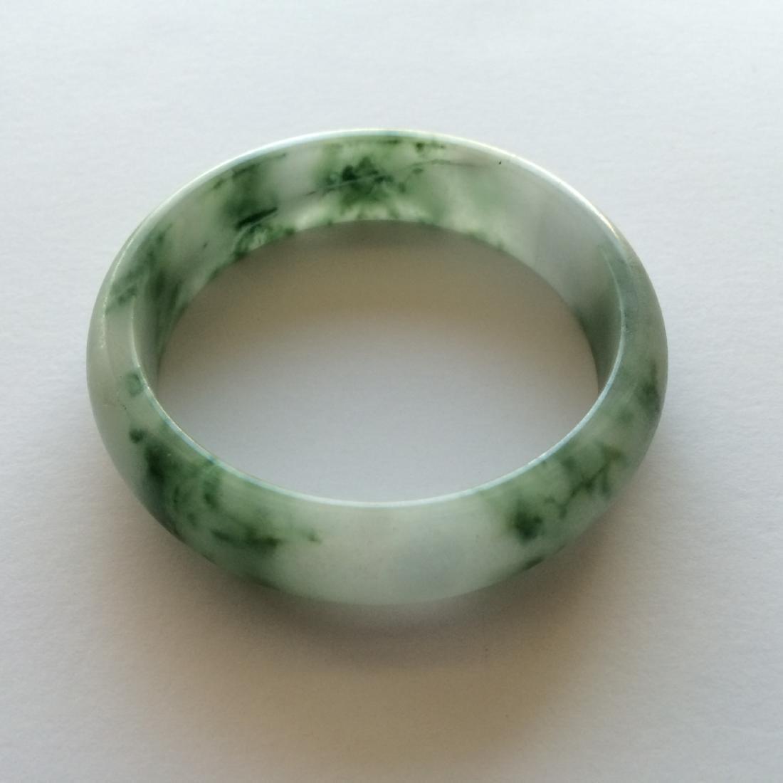 "Chinese Natural Jadite Bracelet (2""Size)"