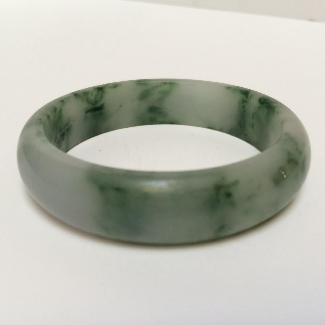 "Chinese Natural Jadite Bracelet (2""Size) - 2"