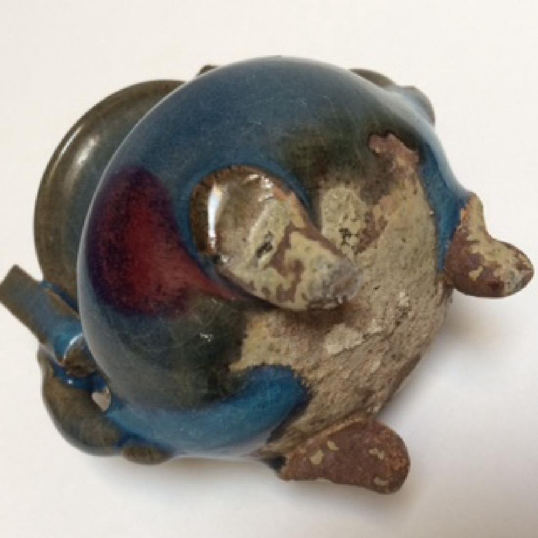 "Yuan Dynasty Qun Ware Porcelain Censer (3.5""H) - 2"
