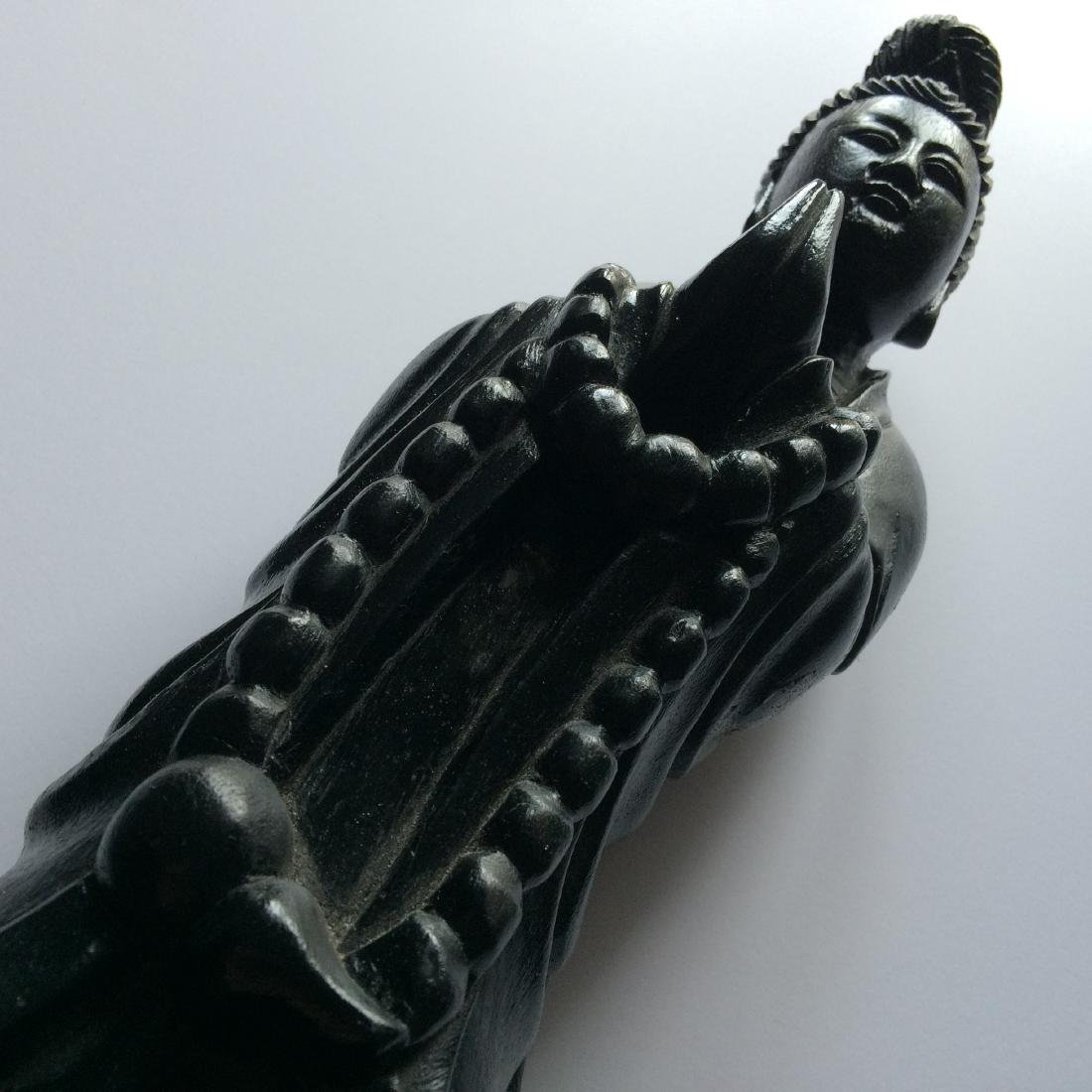 """Chinese Carved Wood Figure Quan Yin (16.5"""") - 2"""