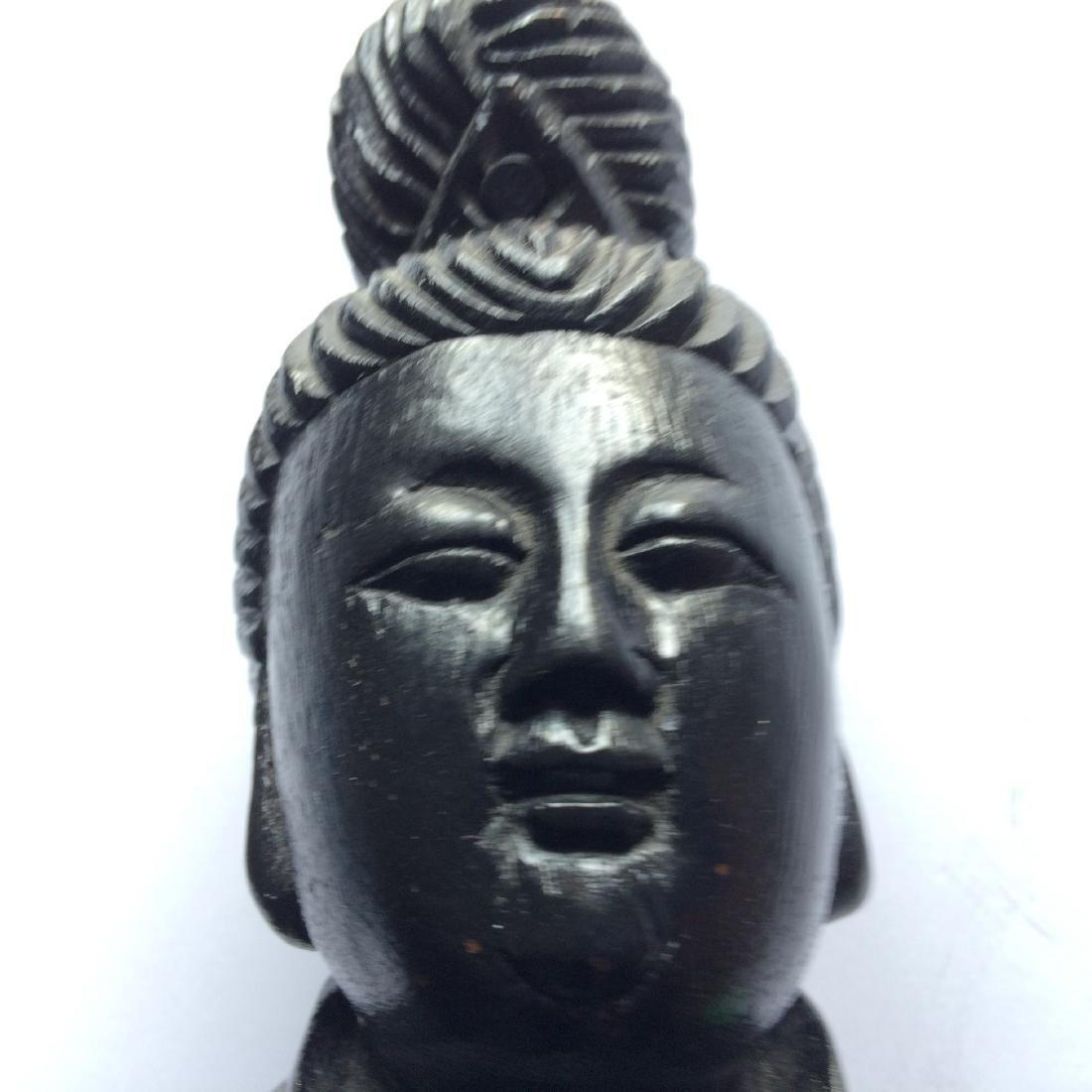 """Chinese Carved Wood Figure Quan Yin (16.5"""") - 6"""