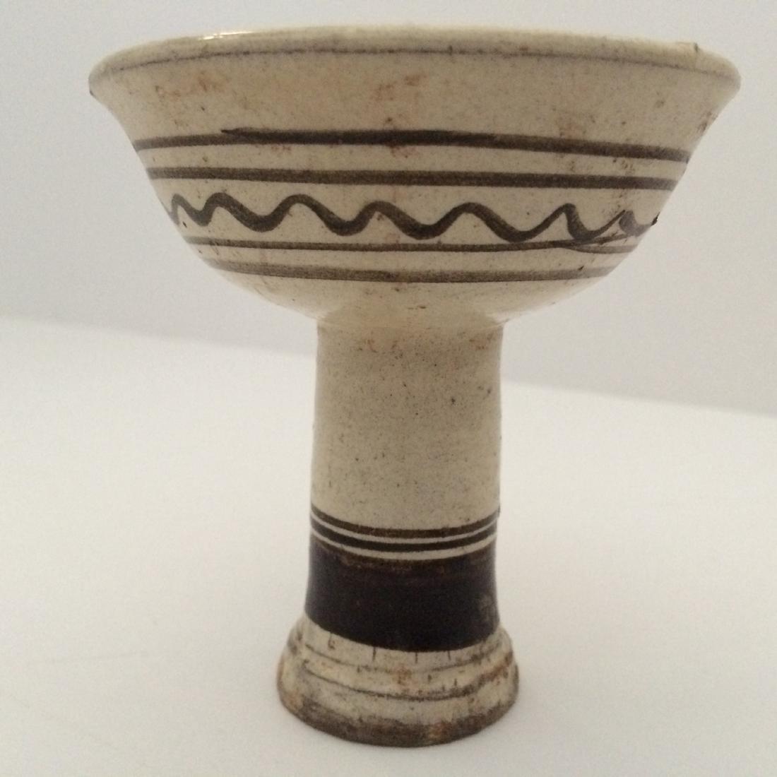 "Song Dynasty Cizhou Ware High Stem Pedestal Cup (3.5""H) - 2"