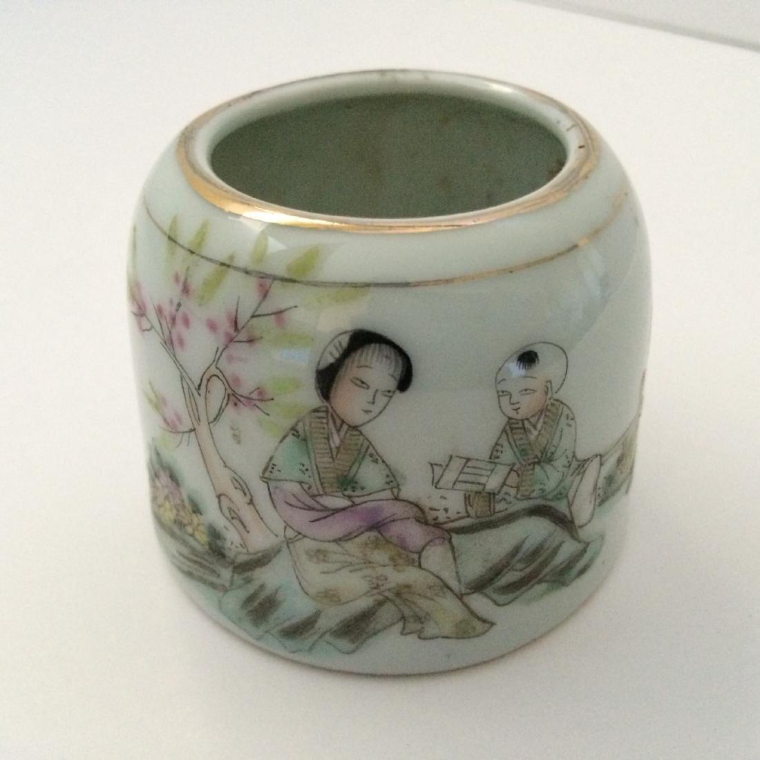 Qing Dynasty Multi Color Porcelain, Famous Names, Mark