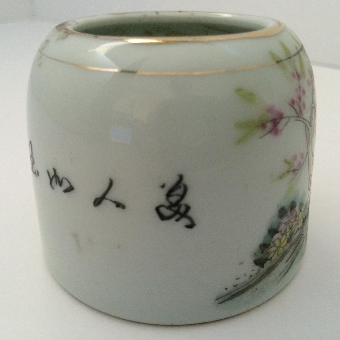 Qing Dynasty Multi Color Porcelain, Famous Names, Mark - 4