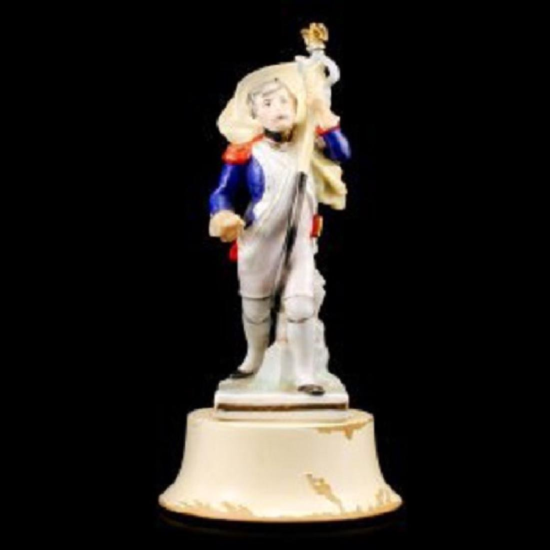 """Euro Porcelain Figurine French Man with Scepter (9.5""""H)"""
