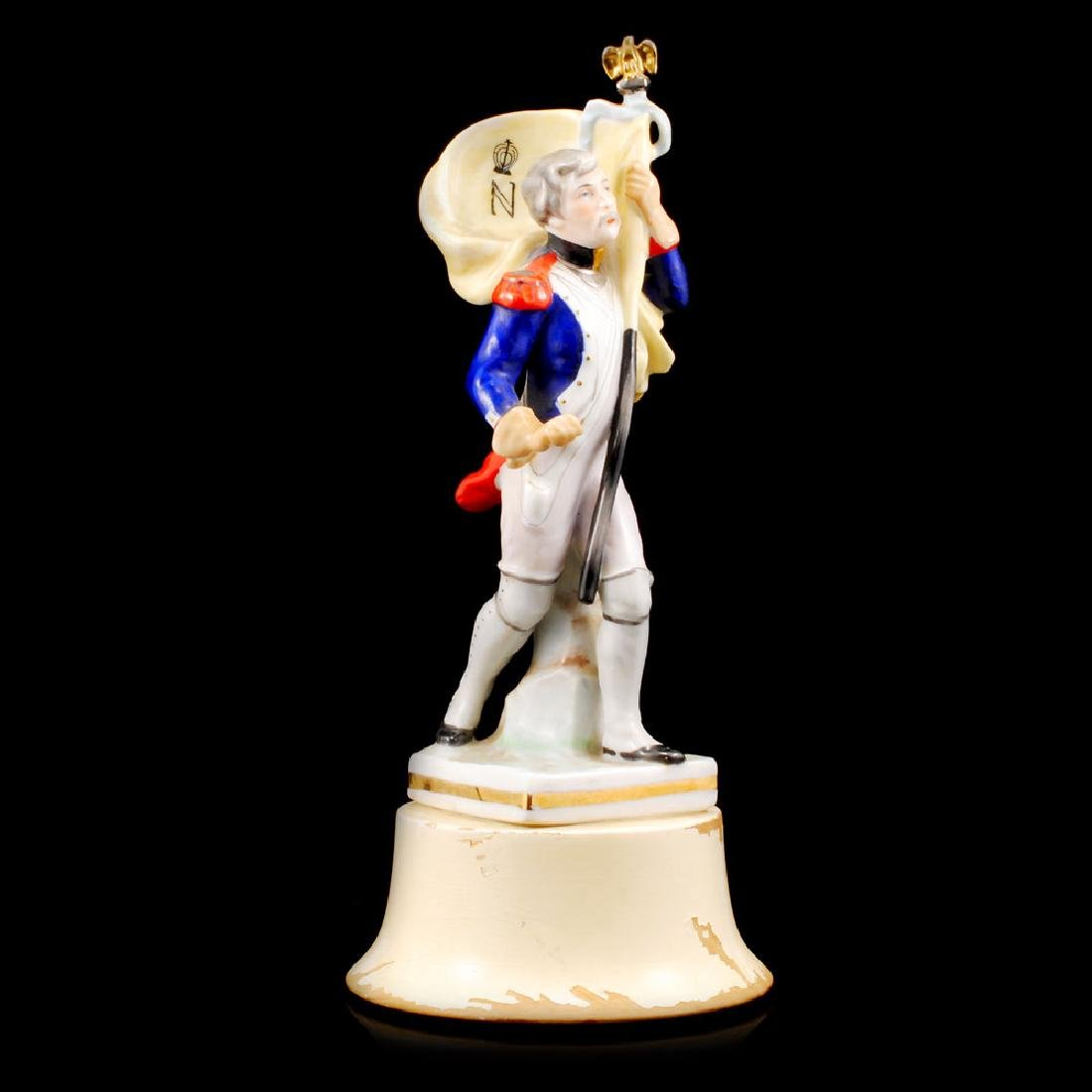 """Euro Porcelain Figurine French Man with Scepter (9.5""""H) - 2"""