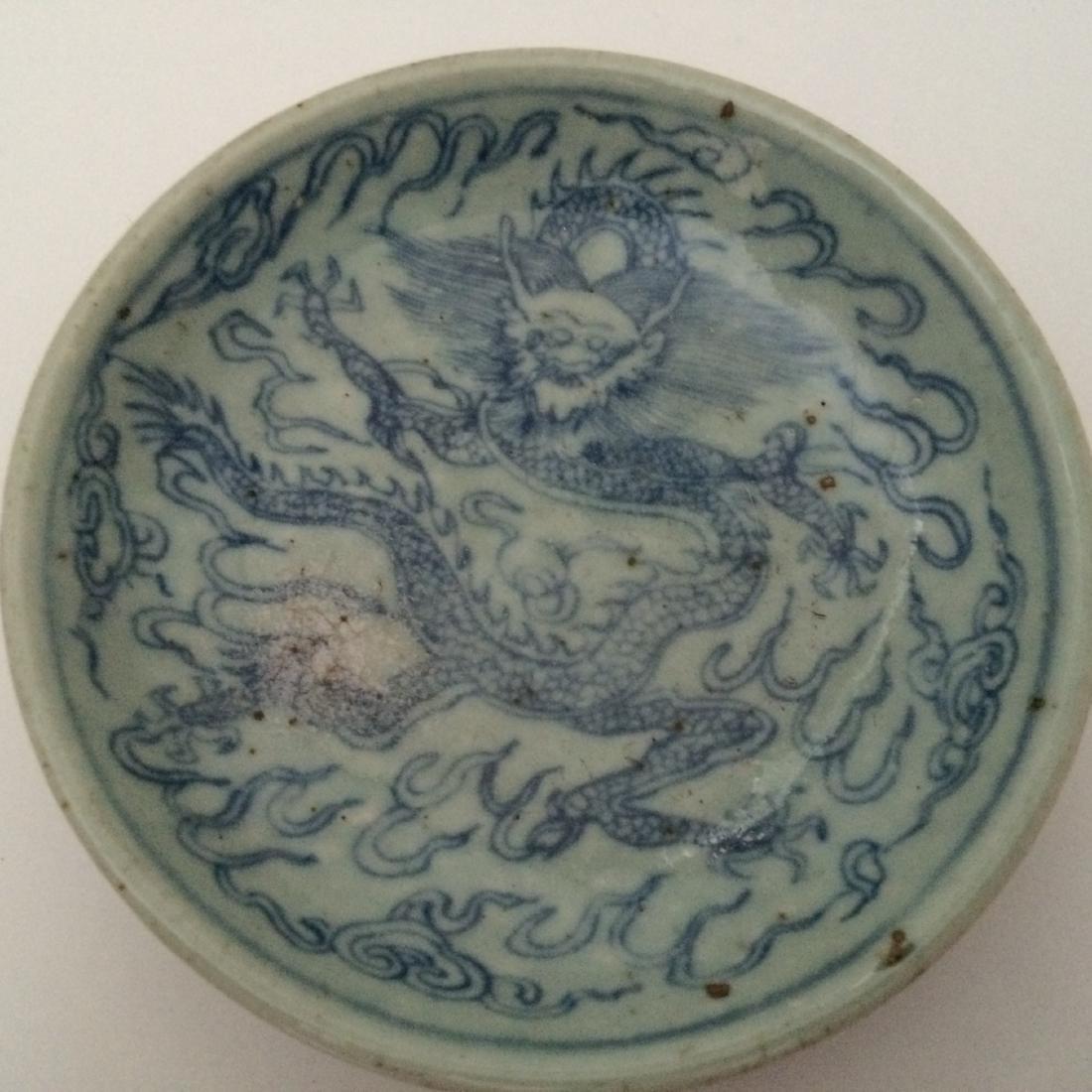Ming Dynasty Porcelain Blue & White Dragon - 3