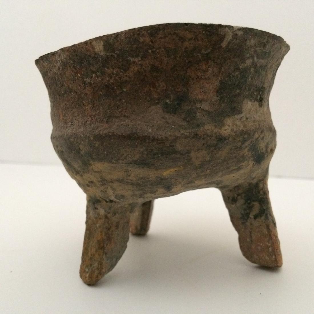 """Pre Han Dynasty, Censer Tripod Base, Ceramic (3.5""""Dia) - 3"""