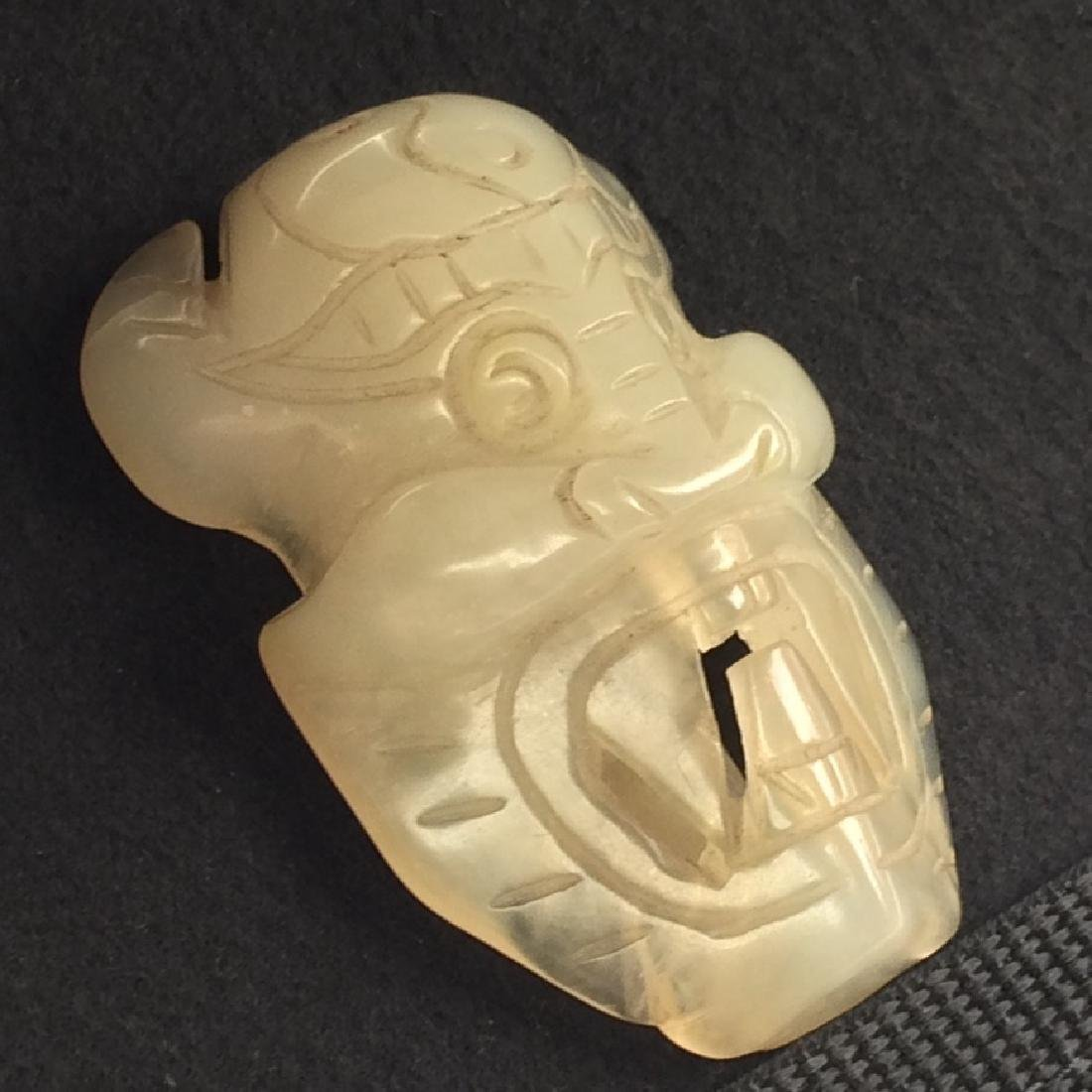 White Jade Carving, Ox Head - 2