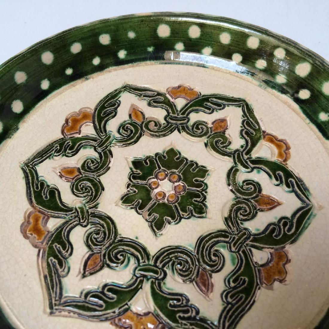 Tang Dynasty Fine Multi Colored Plate - 2