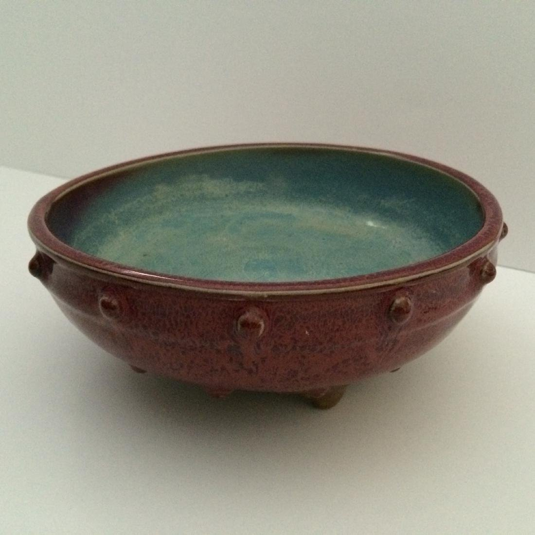 Jun Ware Tripod Base, Mark Four, Porcelain