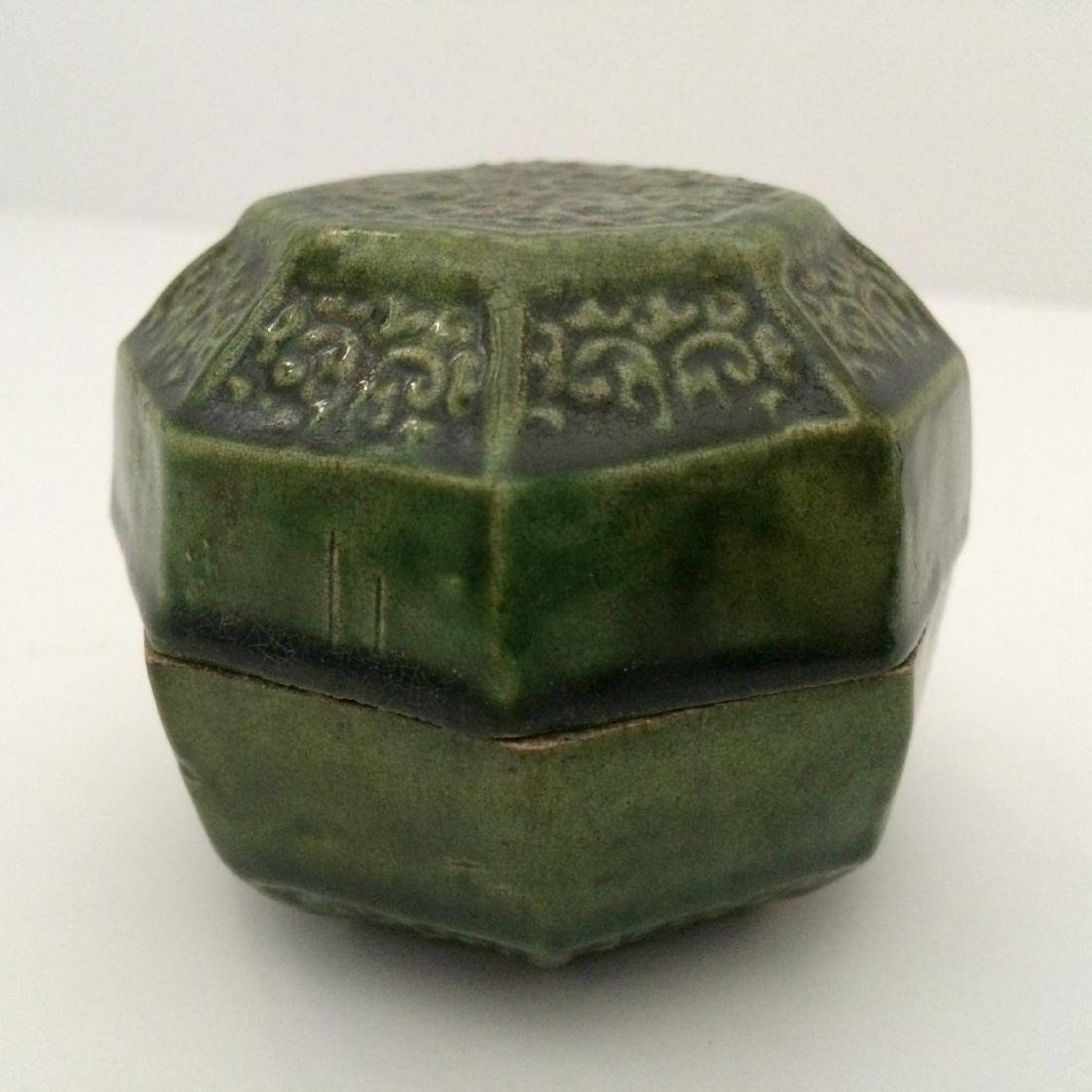 Tang Dynasty Green Glaze Jar with Lid