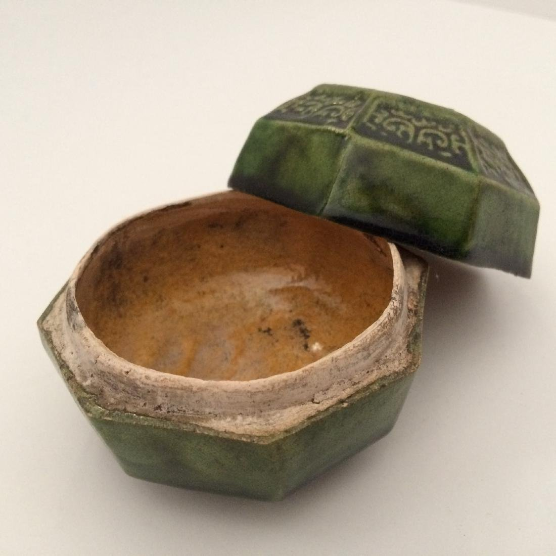 Tang Dynasty Green Glaze Jar with Lid - 2