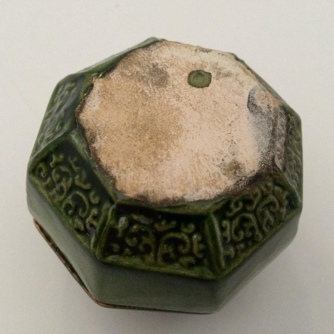 Tang Dynasty Green Glaze Jar with Lid - 3
