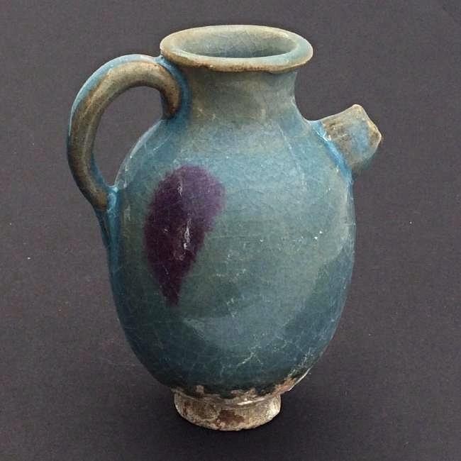 Chinese Porcelain Antique Jun Ware Jar w handle