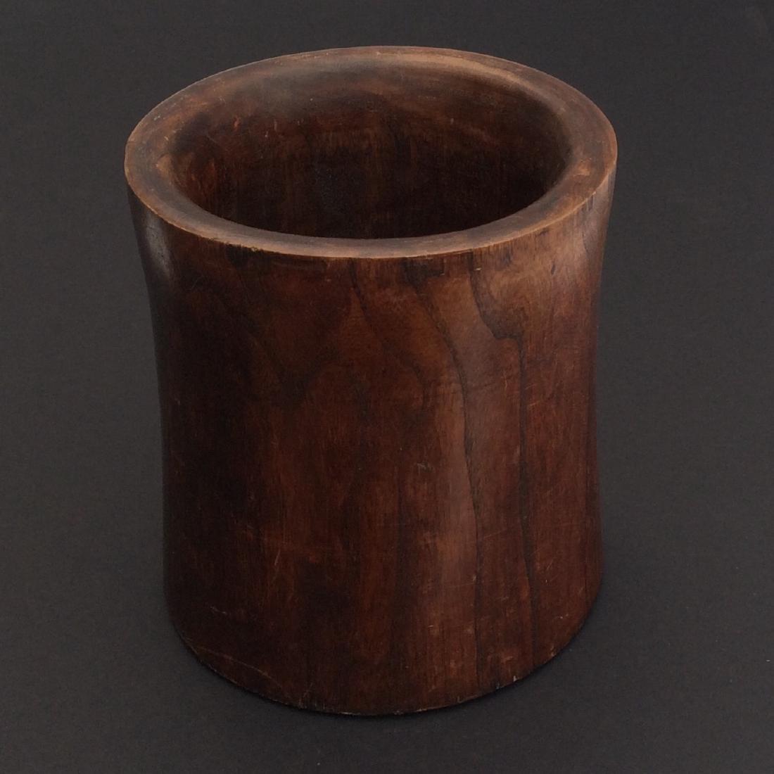 Chinese Antique Huang-Hua-Li Wood Brush Holder