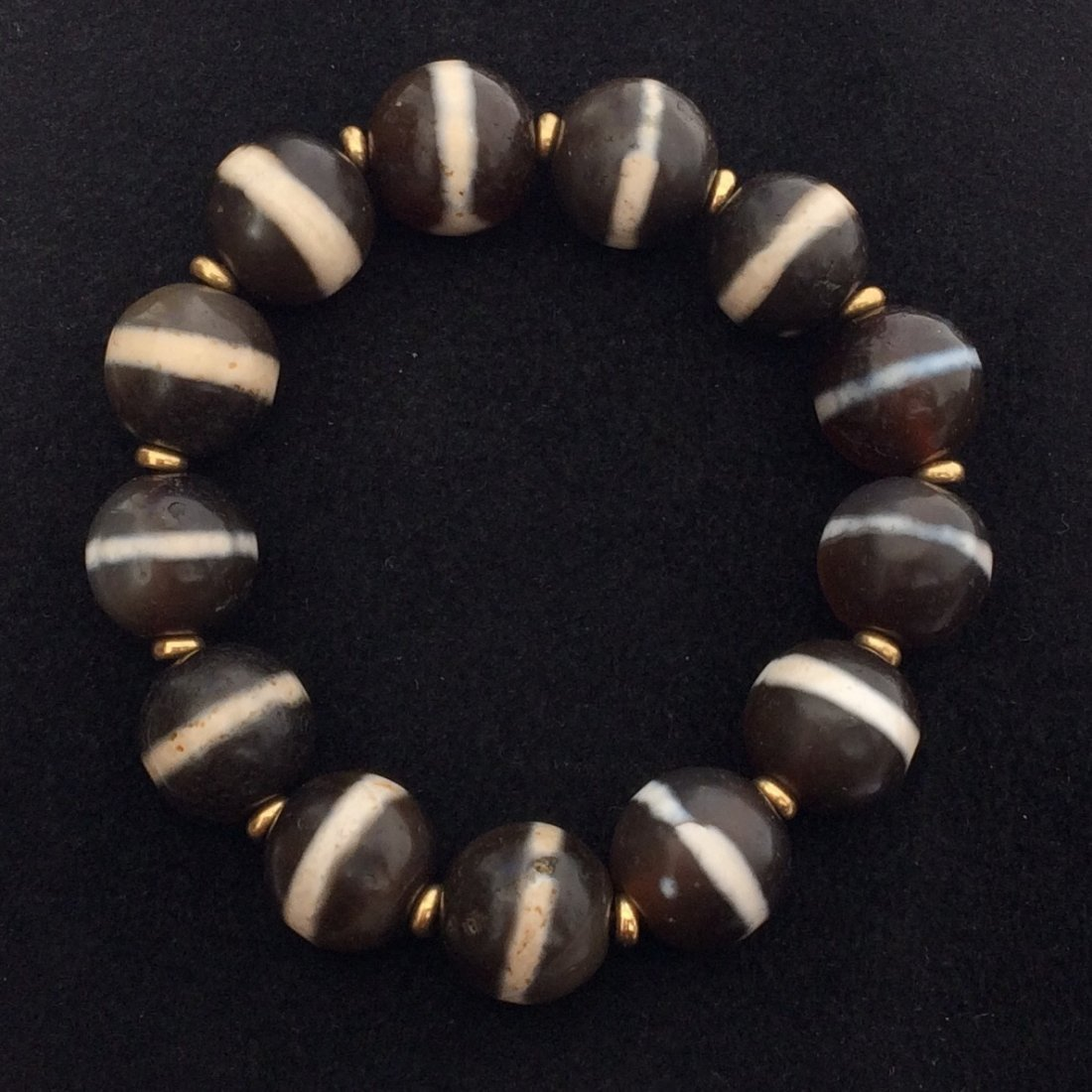 Chinese Dzi Round Bead Bracelet