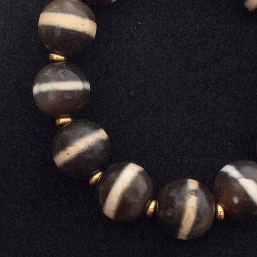 Chinese Dzi Round Bead Bracelet - 2