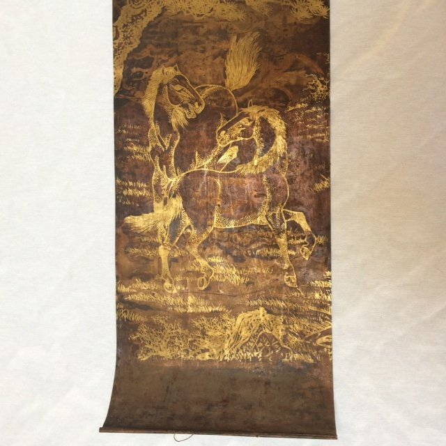 Chinese Set of 4 Copper Sheet Scrolls - 2
