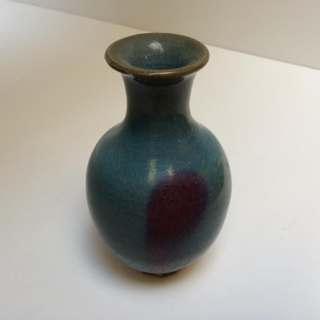 Chinese Yuan Dynasty Style Red/Blue Jun Ware Vase
