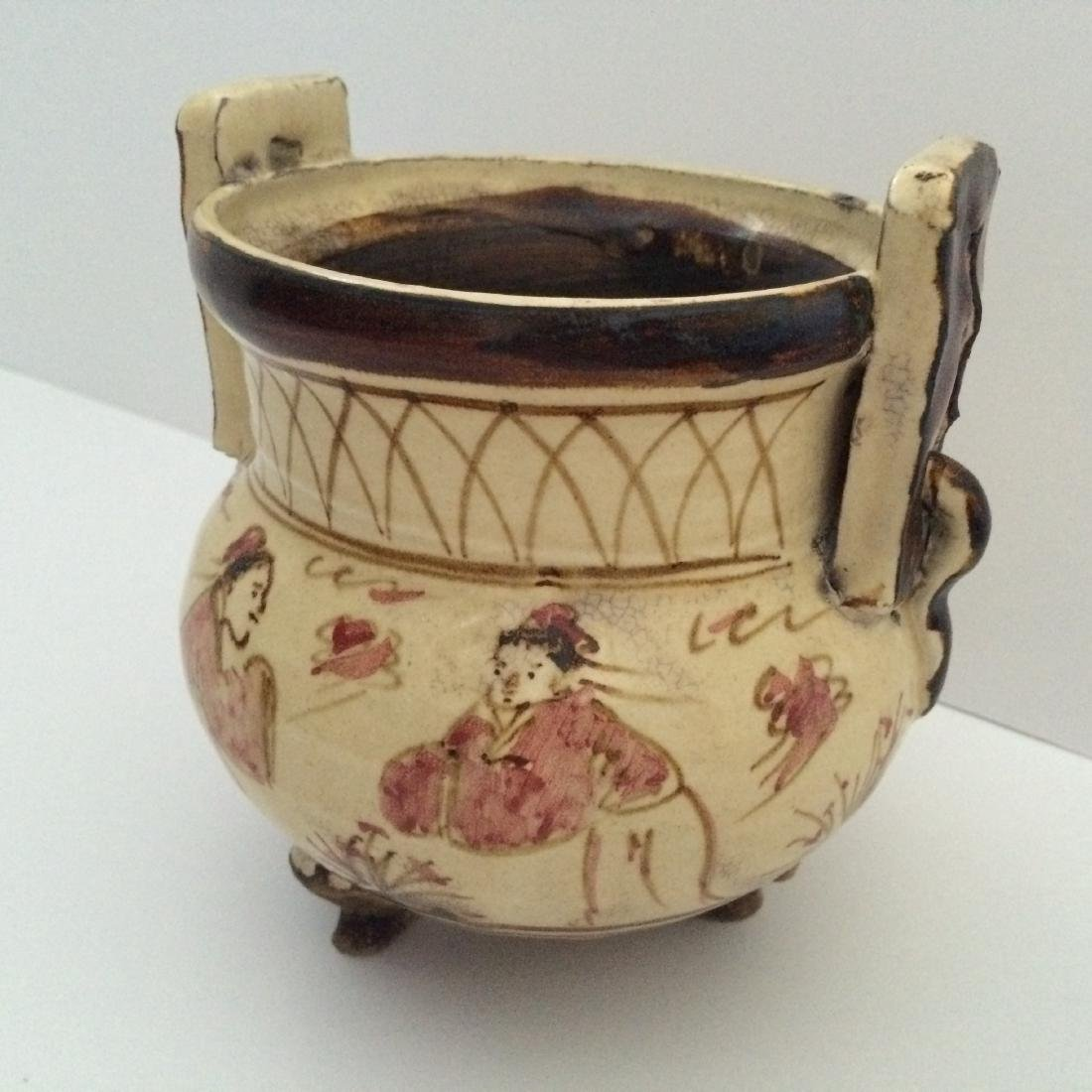 Chinese Yuan Dynasty Style Ci Zhoe Ware Tripod Censer