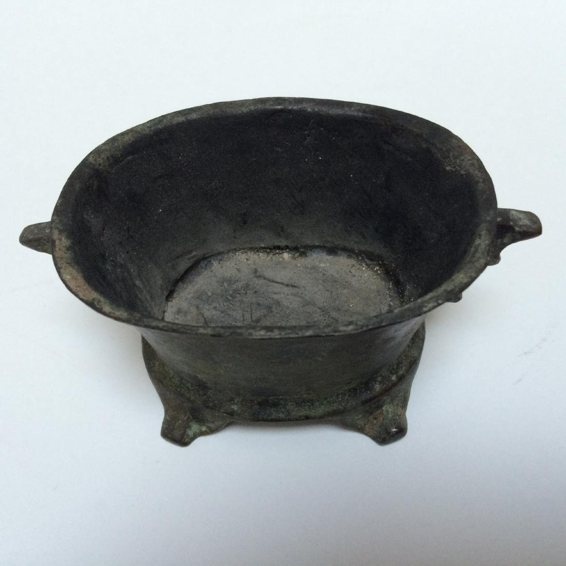Chinese Ming Dynasty Style Bronze Censer w Mark